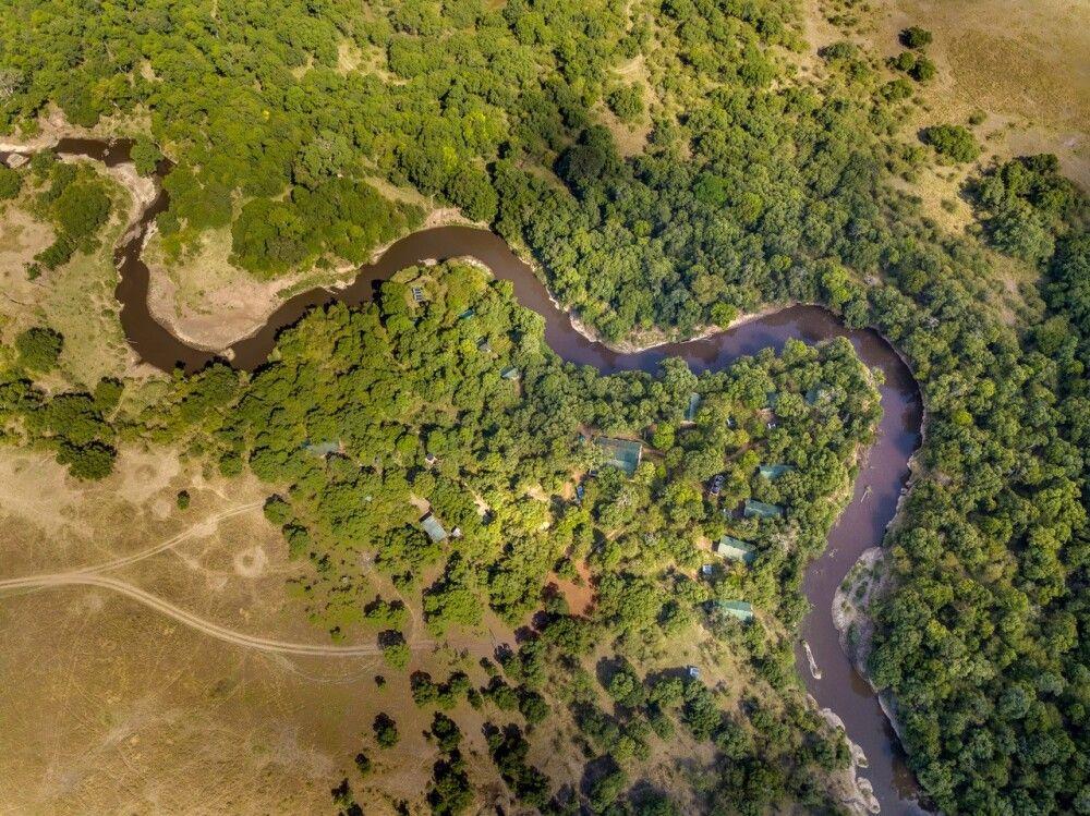 Mara Legends Camp, Luftbild