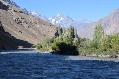 der Bartang-Fluss