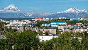 Blick über Petropawlowsk-Kamtschatski