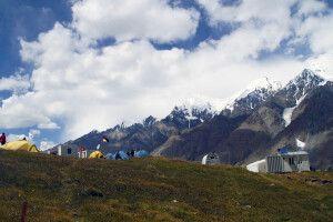 Lager am Merzbacher Gletscher