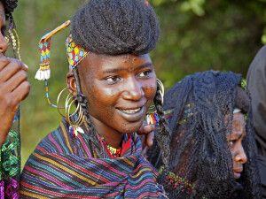 junge Frau beim Gerewol-Festival