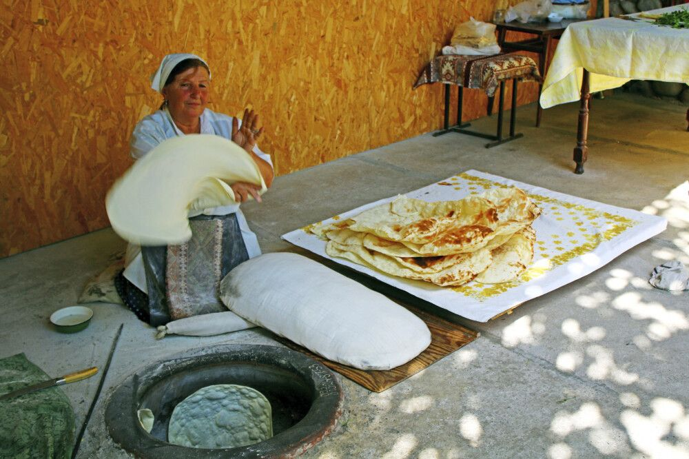Backen vom Brot Lawasch