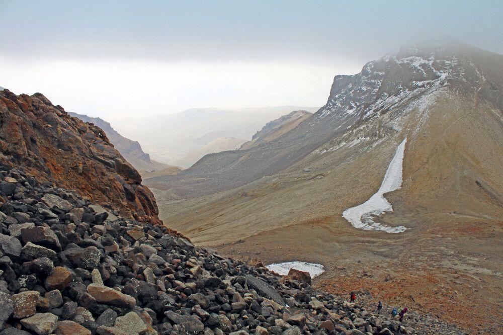 Blick vom Westgipfel Aragats