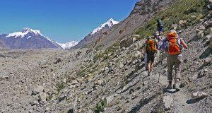 Wanderung Inyltschek-Gletscher (2900m) – Putewodnyi-Gletscher (3100m)
