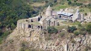 Kloster Tatev vom Hubschrauber aus