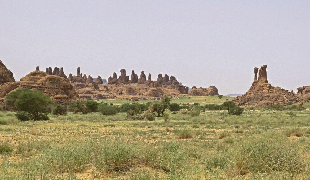 Landschaft der Ennedi Sandsteinwüste