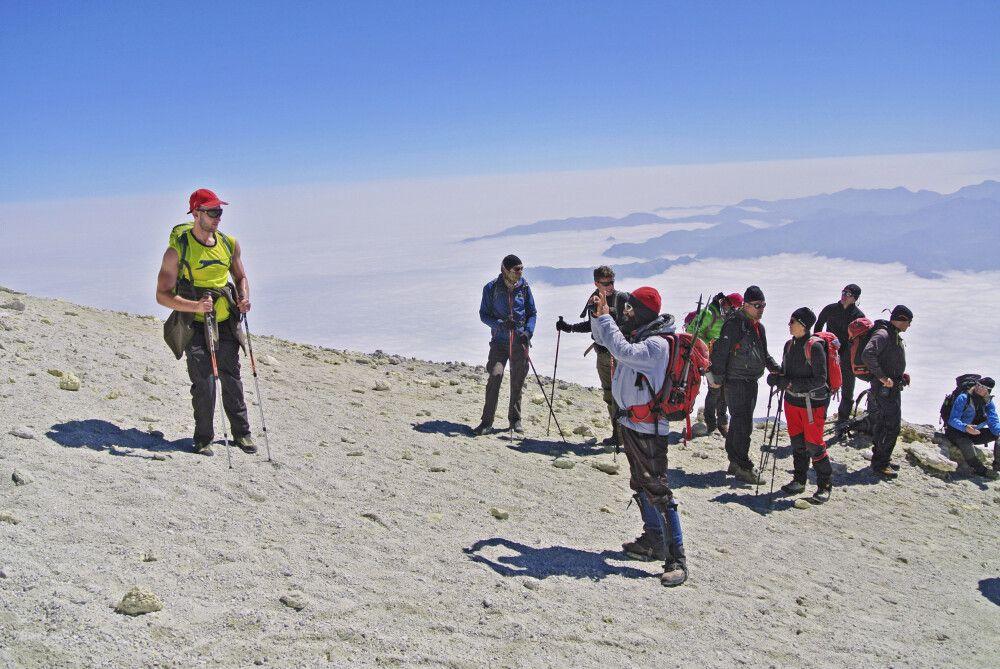 (Expedition Damavand) – Gipfelaufstieg