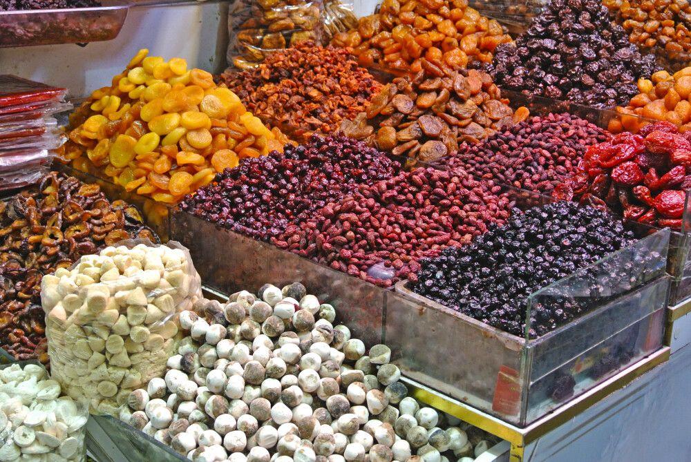Trockenfrüchte Basar in Teheran