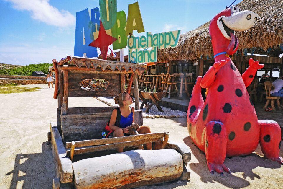 Am Baby Beach auf Aruba