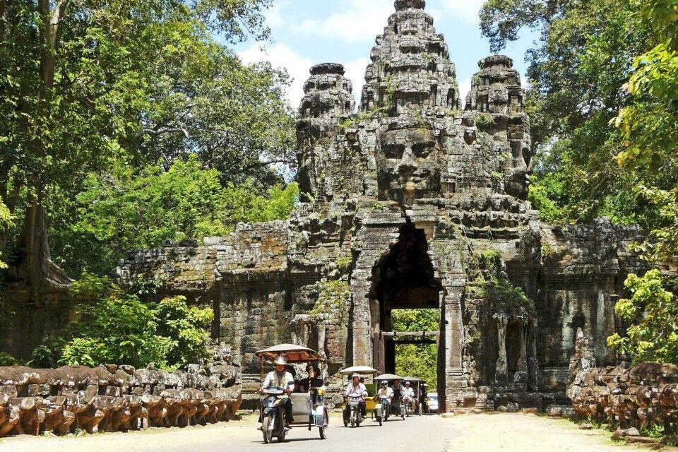Das Südtor von Angkor Thom
