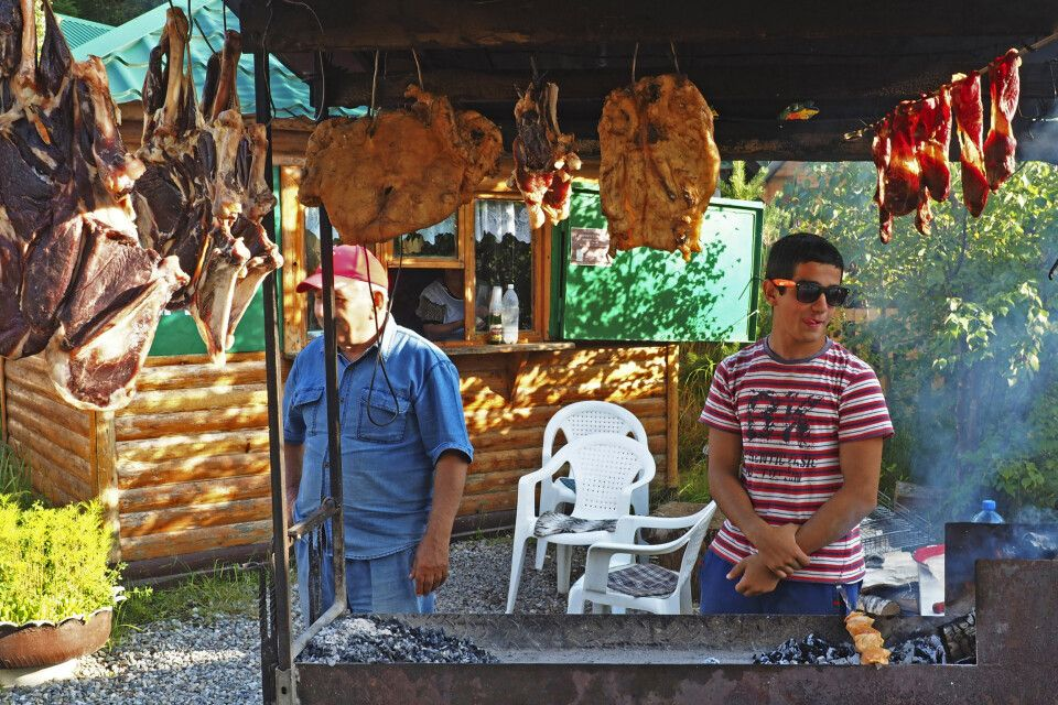 Schaschlik - traditionelle kaukasische Spezialitäten