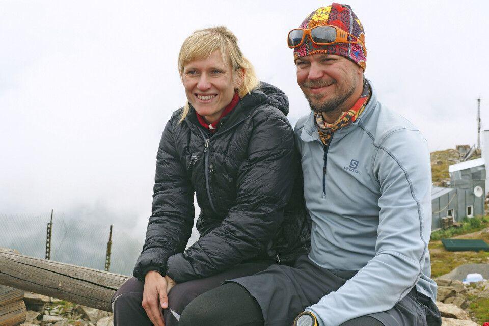 Expeditionsleiterin Marianne Nimsch und Bergführer Andrey