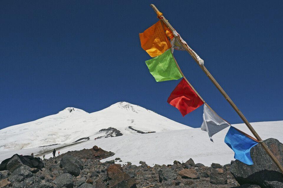 Traumhaftes Wetter mit Blick zum Elbrus