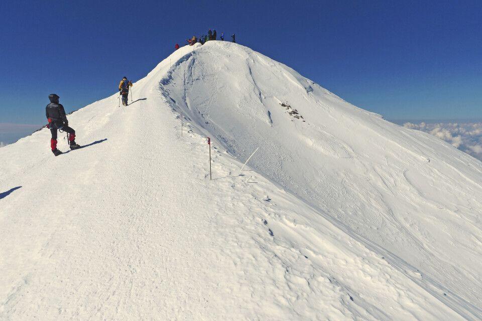 Die letzten Meter bis zum Gipfel!