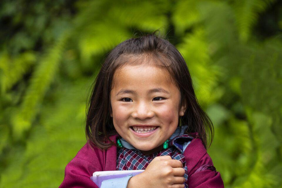 Fröhliches Lächeln in Bhutan