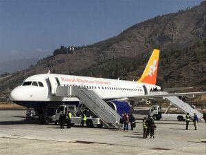 Flug von Paro nach Kathmandu