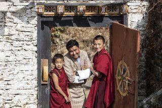 Freundliche Gesichter in Bhutan