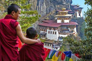 Blick auf das Tigernest-Kloster