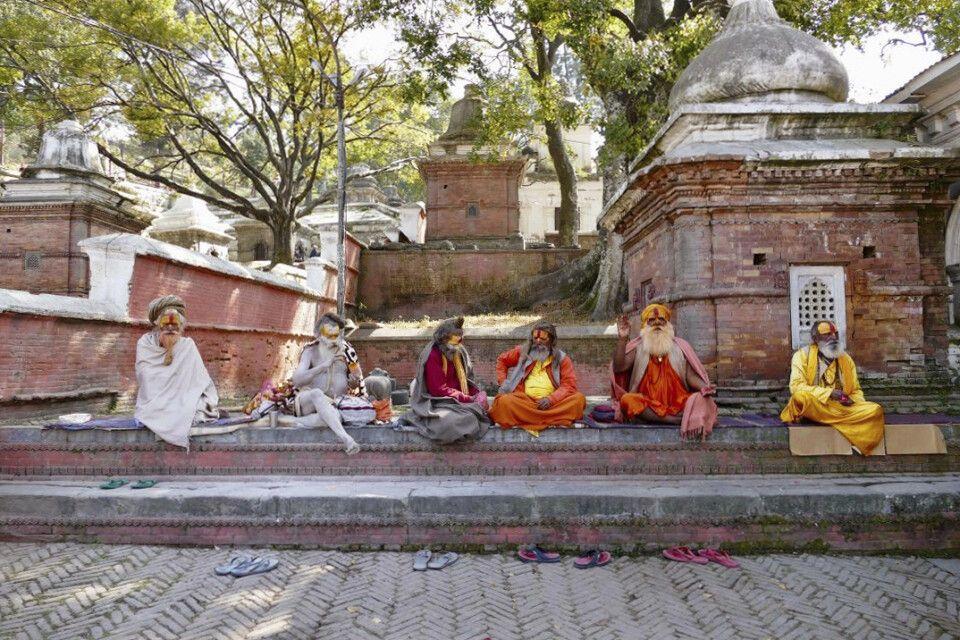 Sadhus in Pashupathinath