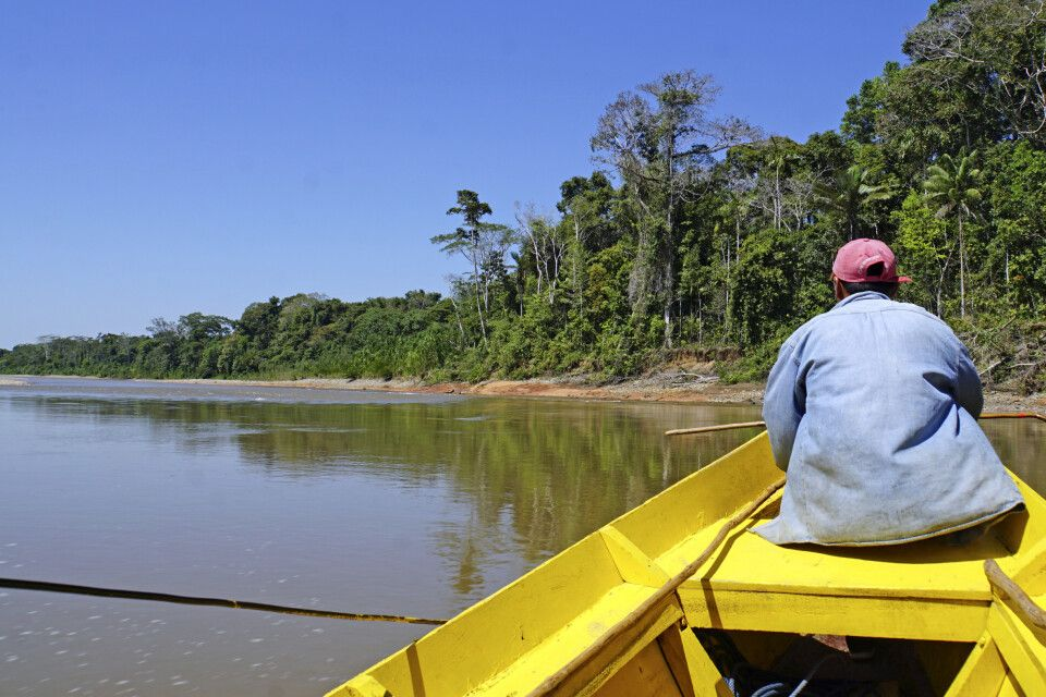 Bootsfahrt im Madidi Nationalpark