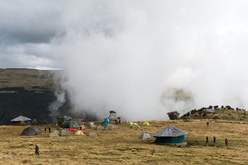 Zeltcamp in den Semien Bergen