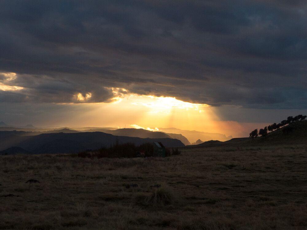 Sonnenuntergang den Semien Bergen