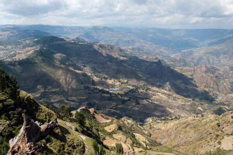 Landschaftsszenen aus den Semien Bergen