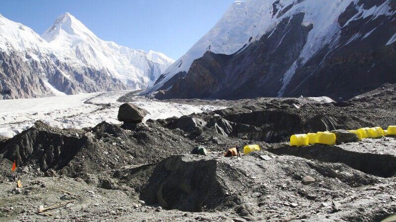 Inyltschek-Gletscher mit Lager © Diamir