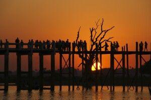 Amarapura, die U-Bein-Brücke
