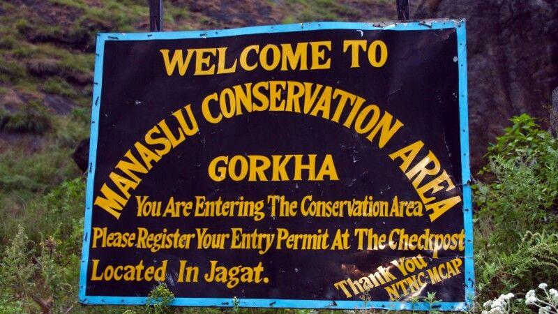 Eintritt in den Manaslu-Nationalpark © Diamir