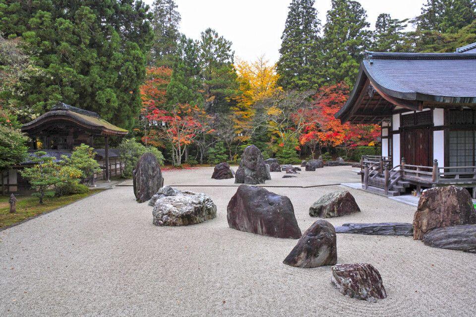 Der große Steingarten des Kongobuji-Tempels in Koyasan