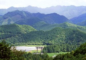 Kumano Hongu Taisha ist das Ziel am Ende des Pilgerweges Kumano Kodo