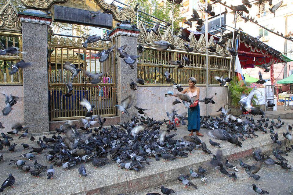 In der Altstadt von Yangon