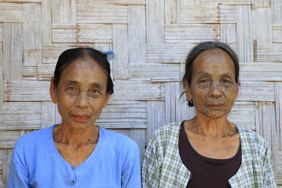 Frauen vom Stamm der Chin