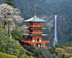 Zauberhafte Landschaft am Nachi-Wasserfall