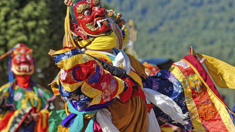 Klosterfestival Jambay Lhakhang Drup in Bumthang © Diamir