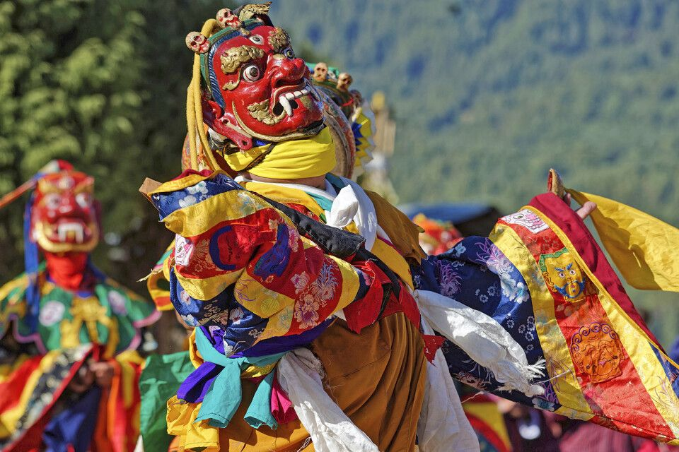 Klosterfestival Jambay Lhakhang Drup in Bumthang