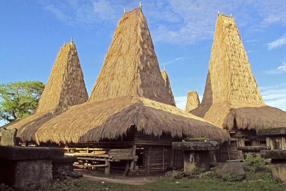 Traditionelle Häuser der Kodi