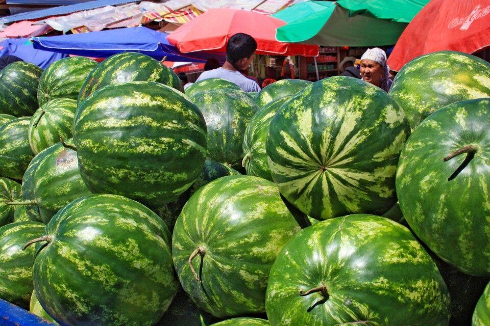 Melonen auf Basar in Osch