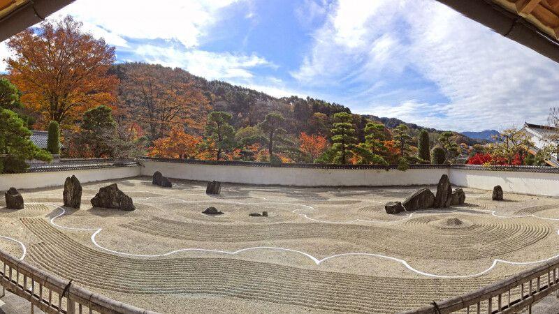 Panorama des Steingartens im Konzen-ji Tempel in Kiso Fukushiima © Diamir