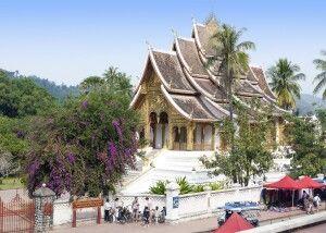 Tempel auf dem Gebiet des ehemaligen Königspalastes in Luang Prabang