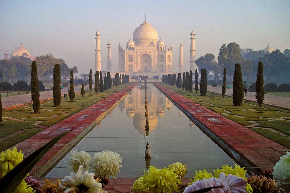 Taj Mahal in Agra Sonnenuntergang