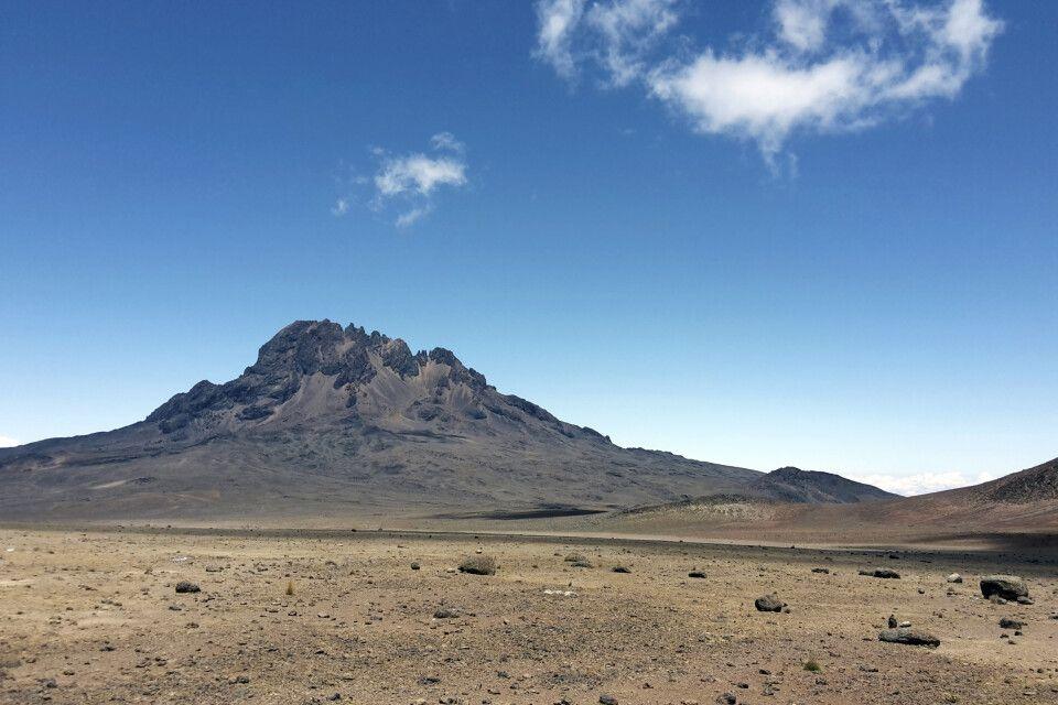 Karge Mondlandschaft in der alpinen Wüste zwischen Mawenzi und Kibo