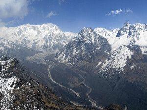 Blick vom Sinelapcha-Pass