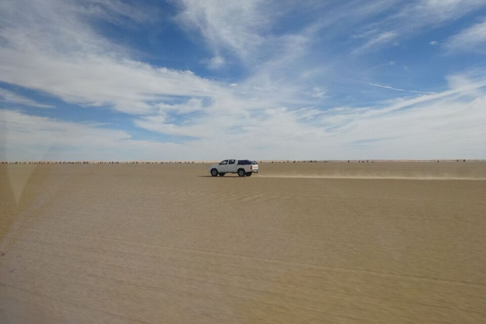 Sandpiste in Mauretanien