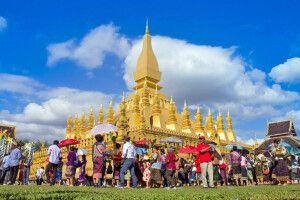 That Luang Festival jedes Jahr im November in der Hauptstadt Vientiane