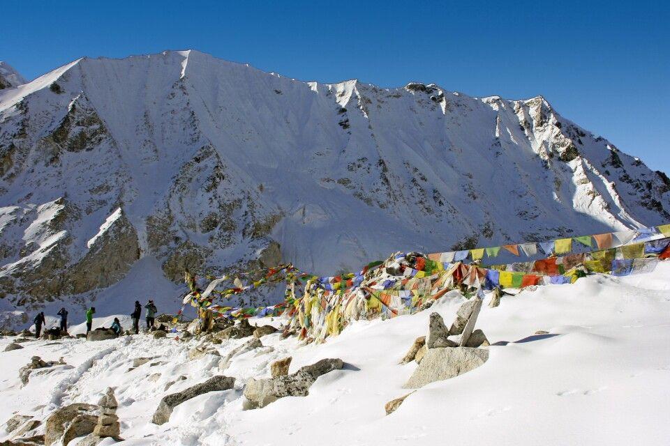 Passhöhe Larkya La (5135 m)