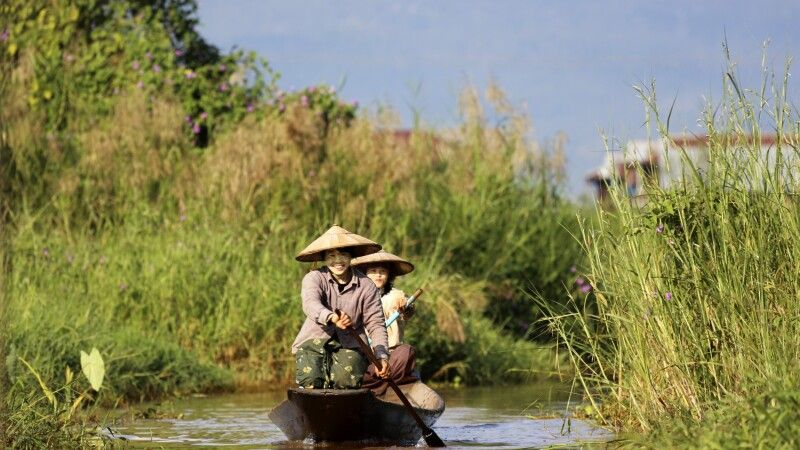 Kanal am Inle-See © Diamir