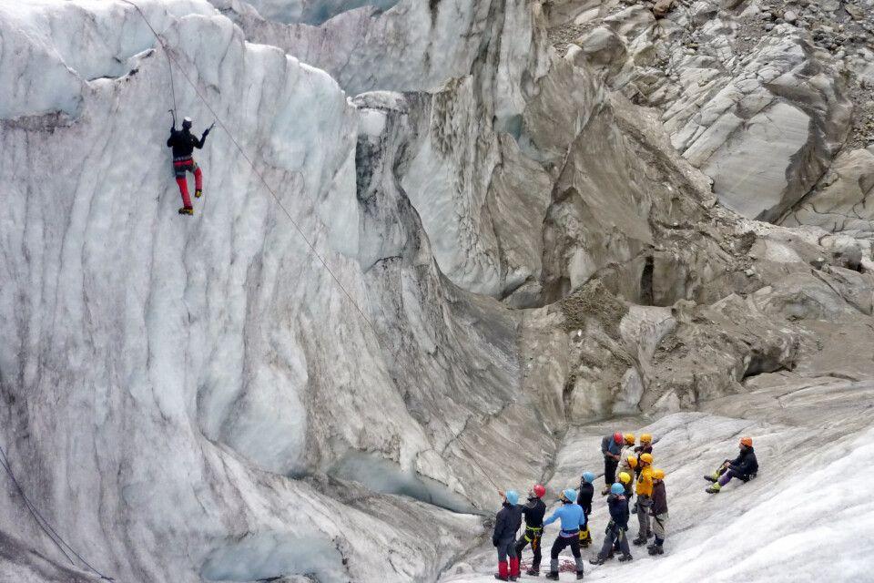 Klettern mit dem Eispickel