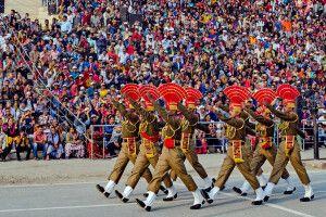 Grenzzeremonie Amritsar (Wagah Border)